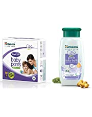 Himalaya Total Care Baby Pants Diapers, Medium, 78 Count and Gentle Bath (400ml) Combo