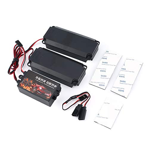 Zweite Generation Kühle Gasgestänge Gruppen Motor Sound-Simulator mit 2 Lautsprechern für RC Sport Auto-Modell-Fahrzeug (Farbe: Schwarz)