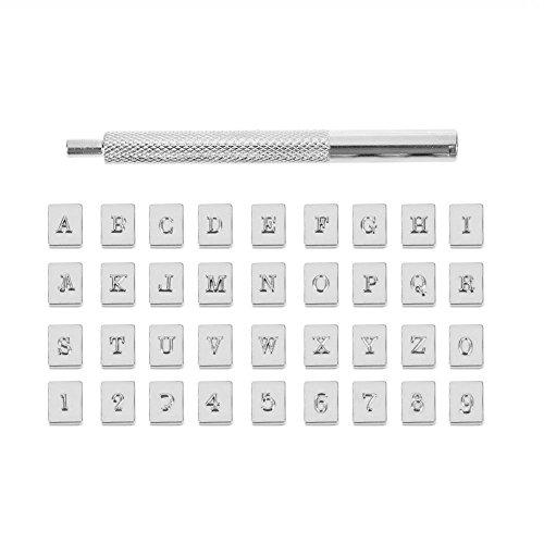 36pcs Stahl Punch Alphabet Buchstaben Anzahl Stamper Set Metall Leder Werkzeug