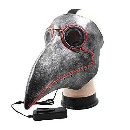 Halloween-Maske glühend lange Vogel Mund Cosplay Requisiten Doctor Dance Masken