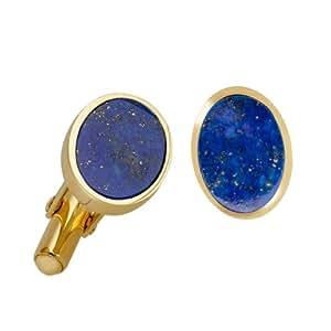 Bella Donna Herren- Manschettenknöpfe 375 Gelbgold 2 Lapise-Lazuli Oval 14x10 mm