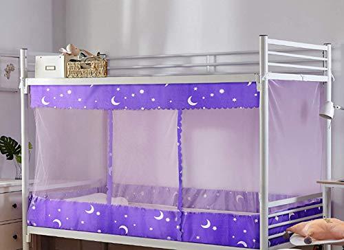 Tofover Moustiquaire de dortoir, Rideaux occultants pour lit superposé avec Dessus Anti-poussière et Couche de Tissu Anti-moustiques, L-6, 120 * 190 * 155cm/47.24''(W)*74.8''(L)*61.02''(H)
