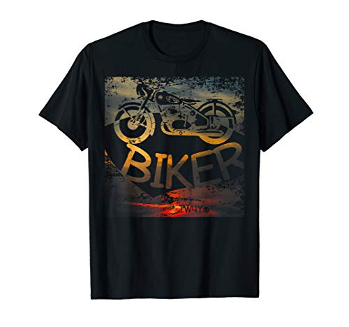 Herren Motorrad Biker Motiv T-Shirt