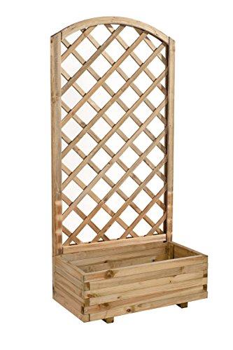Avanti trendstore - iberi - fiorieria in legno con griglia ad arco convesso, molto pratico e decorativo, ideale per giardino o balcone, dimensioni: lap 80x172x40 cm