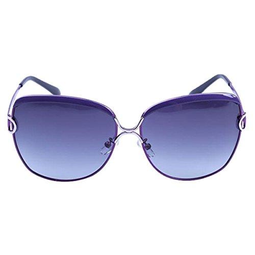 Die Neue 2017 Farbfilm Frauen Mode Koreanisch Polarisierte Sonnenbrille Multicolor,145mm-Purple