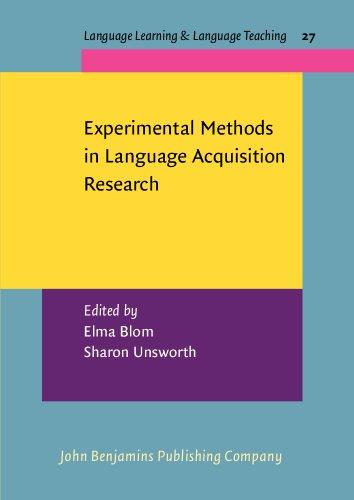 PDF Experimental Methods in Language Acquisition Research (Language