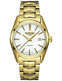 Roamer Women's Quartz Watch with White Dial Analogue Display and Gold Stainless Steel Bracelet 210844 48 25 20