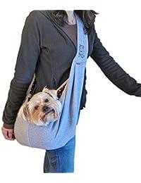 Pequeño perro gato portador de viajes de mascotas bolsa de hombro para correr al aire libre caminando senderismo , gray