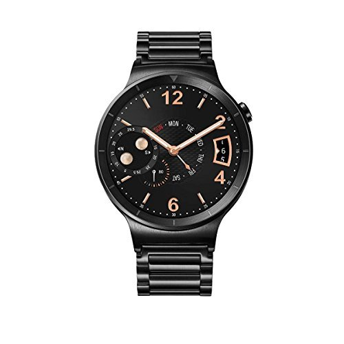 Huawei Watch Black Stainless steel with Black Link Bracelet