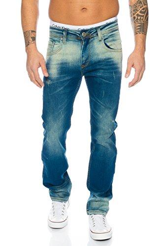 Rock Creek Herren Jeans Blau LL-311 [W40 L38]