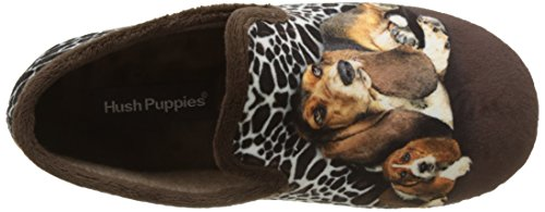 Hush Puppies Sun, Basse Donna Marron (Marron Imprime)