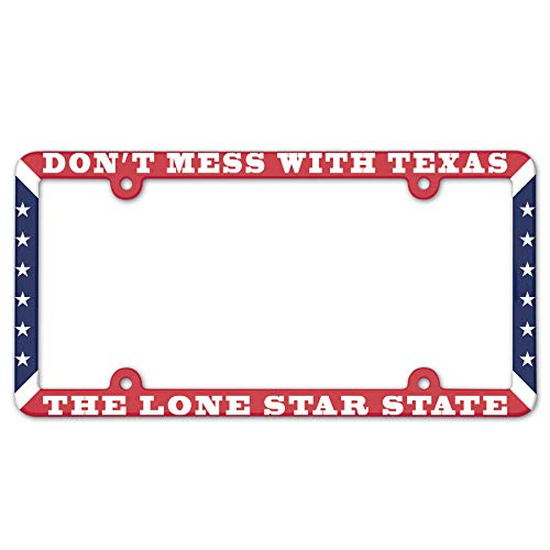 Don 't Mess with Texas die Lone Star State 15,2 x 30,5 cm Full Color Kunststoff Nummernschild Rahmen -