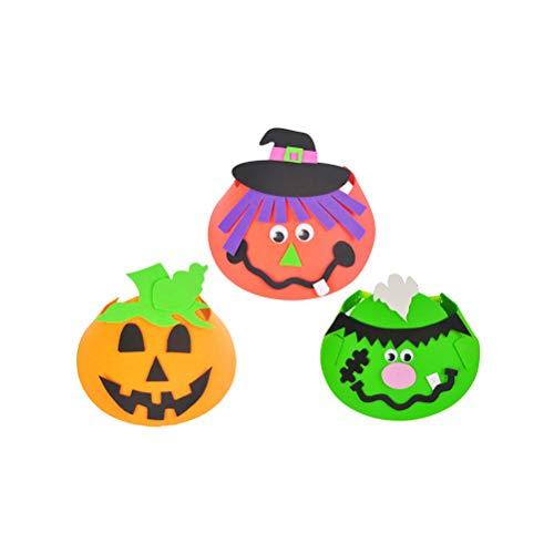 BESTOYARD 3 stücke Halloween Party Hüte Cartoon DIY Eva Kappe Cosplay Ornament Hexe Spinne Hut Kostüme für Kinder Halloween Spielzeug