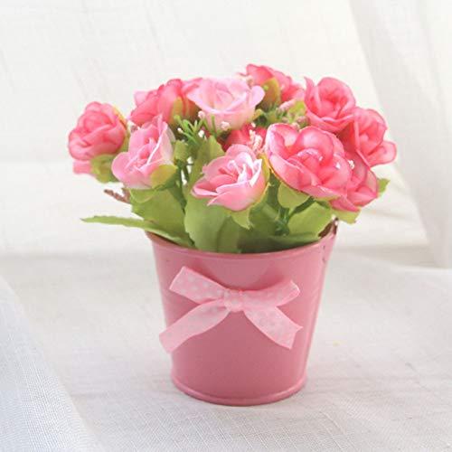 Ailizhen Künstliche Rosen Kunstblumen für Zuhause, Party, Hochzeit, Dekoration, Topfpflanzen Rose -