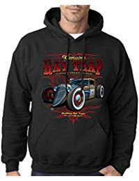 Velocitee Mens Hoodie Genuine Junkyard Garage Hot Rat Rod Rockabilly W15747
