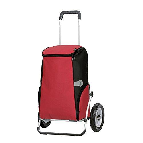 Sondermodell Andersen XXL Einkaufstrolley Royal & Einkaufstasche Rune rot mit Kühlfach | Einkaufswagen luftbereift | Shopper Gestell Aluminium klappbar