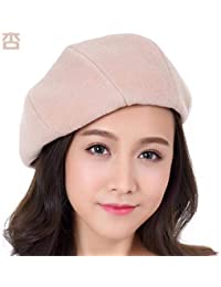 56dd7e67a64d7 Deawecall Sombrero de Mujer Ms Cap Beret Invierno Otoño Invierno Boina  (Color   Rosado