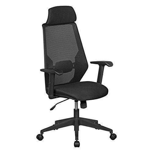 Amstyle NetStar, Bürostuhl mit gepolsteter Stoff-Sitzfläche, Schreibtischstuhl mit Rückenlehne,...