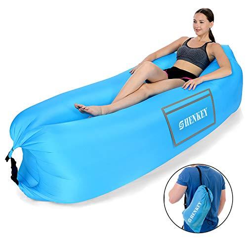 Hamac Gonflable,sofa gonflable avec le paquet portatif pour En voyageant,Camping, Randonnée,bassin et Parties de plage