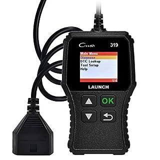 LAUNCH CR319 OBD2 Diagnosegerät OBD Fahrzeug Code-Scanner Fehlercodeleser unterstützt alle Autos mit OBDII/EOBD/CAN-Modi und 16-Pin OBDII-Schnittstelle Code Lesen und Löschen O2-Sensor/EVAP-Test