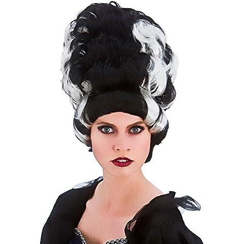 Damas reina traviesa peluca del vestido de lujo de Halloween