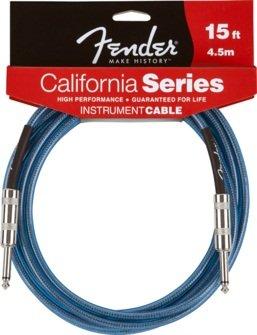 Fender 4,5m califorinia Instrumentos Cable–Lake Placid Blue