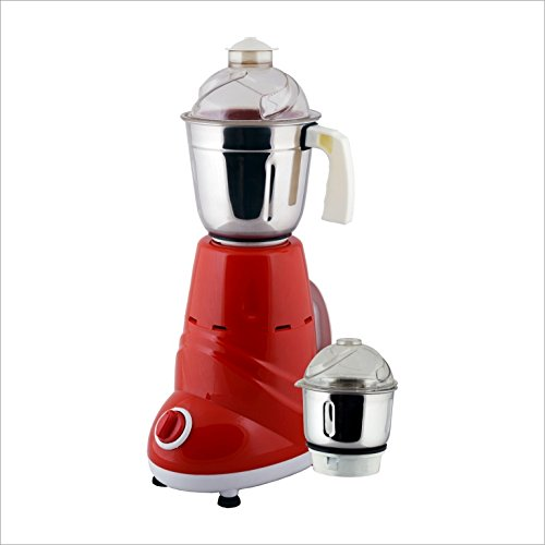 ANJALIMIX Mixer Grinder ZOBO 600 WATTS With 2 Jars (Red & White), DRY, WET, CHUTNEY  available at amazon for Rs.1499