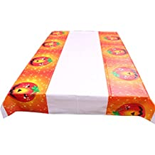 Leisial Halloween Mantel para Mesa Rectangular Desechable Impermeable Diseño de Calabaza para Decoración Hogar Cocina Salón