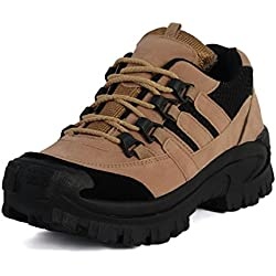 T-Rock Men's Trekking & Hiking Outdoor Shoes (6, Tan)