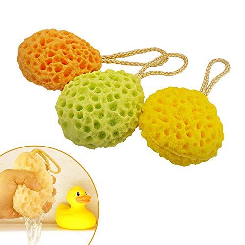 Badeschwämme Dusche Spa Schwamm Körper Reinigung Scrub für Baby Kinder Badeschwamm Set - zufällige Farbe 2 Stücke