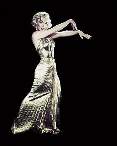 Time Life–Póster de Marilyn Monroe Vestido Dorado Lienzo Prints, poliéster, 40x 50cm