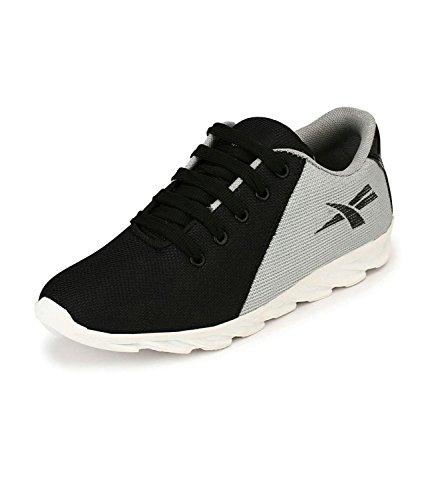 REVOKE Roadeo 7 Unisex Black Running Shoes
