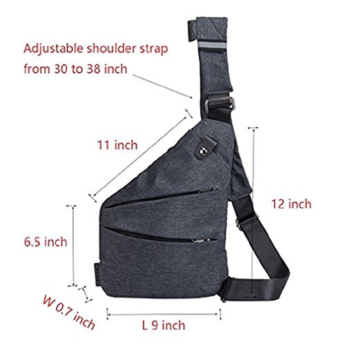 OUMIZHI Packable Shoulder Backpack Sling Chest CrossBody Bag Cover Pack Rucksack for Bicycle Sport Hiking Travel Camping Bookbag Men Women Hellgrau