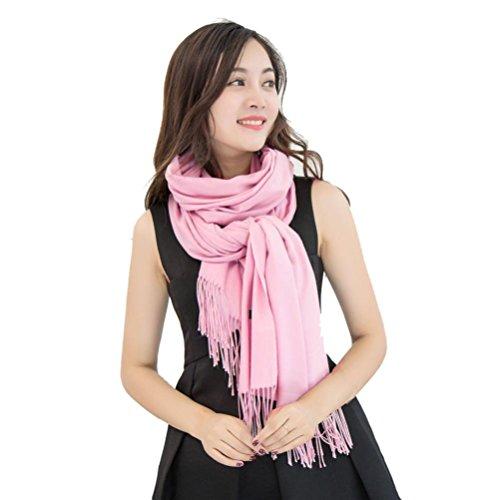 Damen Schal Xinan Women Scarf Frauen Schal Winter Kaschmir Mischung Pashmina Solid Quaste Schal Wrap (70m*180cm/27.6*70.86