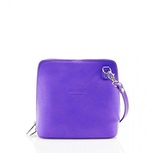 LeahWard® Damen Mode Essener KleinQualität Italian Leder Umhängetasche CWV0026 Lilac