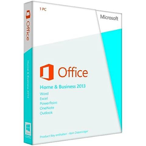 Microsoft Office Home and Business 2013 - Suites de programas (PC, DEU, Windows 7 Home Basic, Windows 7 Home Basic x64, Windows 7 Home Premium, Windows 7 Home Premium