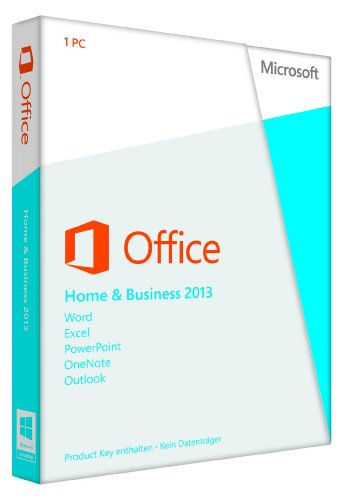 Microsoft Office 2013 Home & Business (Product Key Card, 1 PC)