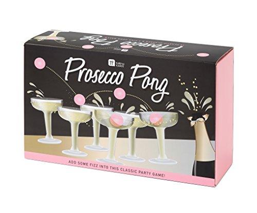 Talking Tables The Original Prosecco Pong Party Game; Witziges Trinkspiel, Alternative zu Bier-Pong für Geburtstage, Polterabende, Silvester, Weihnachten und Sektparties; Pink (12 Gläser und 3 Bälle)