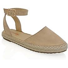 Essex Glam Sintético Zapatos de esparto con plataforma y tiras al tobillo
