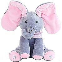 """Morbuy Juguete de Peluche para bebé Peek-a-Boo Elefante, Juego de Ocultar y Buscar Muñeca de Peluche Animada de Elefante Felpa para bebé - 7.8 """"x5.9 x11.8 -Regalo para muñecas para bebé / niños"""