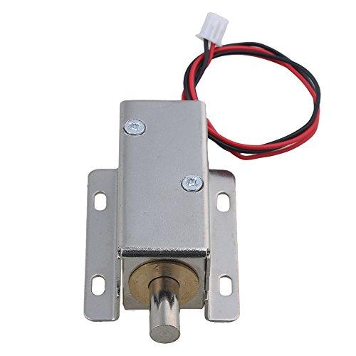 cnbtr 24V DC 0,6A 7,5W Stroke 10mm tfs-a21Elektroschloss Montage Solenoid Datei Lock Round Head Latch silberfarbenes für Schrank Tür (Lock-datei)
