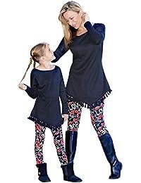 Conjunto de Pijamas Familiares de Navidad, Mosstras Rojo Ropa de Familiar del Padre y Madre