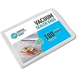 Sacs gaufrés de scellage sous vide, 25x35 cm, 100 pièces/paquet | Pour l'emballage alimentaire | Nombreuses dimensions disponibles | Compatible avec n'importe quelle scelleuse sous vide