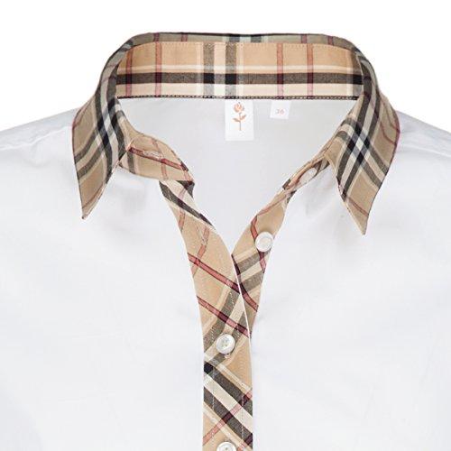 Seidensticker Damen Hemdbluse Comfort Fit/Regular Fit Langarm Stretch Bügelleicht Weiß