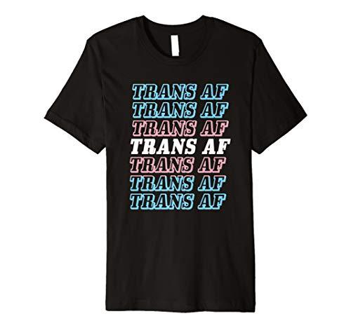 TRANS AF Transgender T-Shirt Funny LGBT Pride Geschenk -