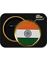 Selling Uniqness Round Shape Indian Flag Brooch/Badge for Men and Women