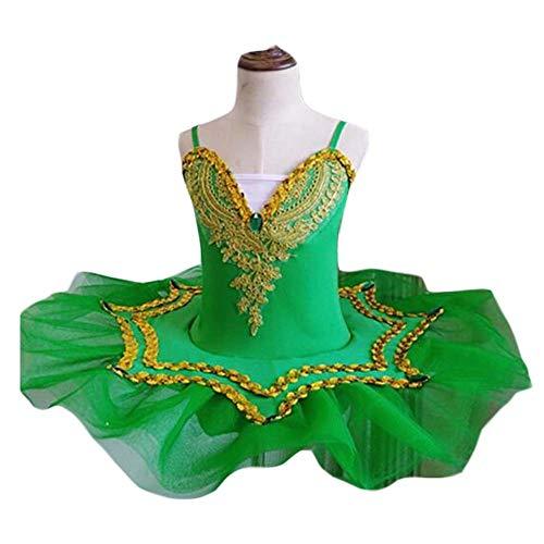 Kostüm Dance Tap Childrens - Panda Legends Mädchen Ballettkleid Kids Dancewear Swan Dance Kostüme Grün Ballettkleid