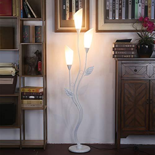 LHQINGRetro Stehleuchte Wohnzimmer Mode schwarz weiße LED Stehleuchte Schlafzimmerlampe -