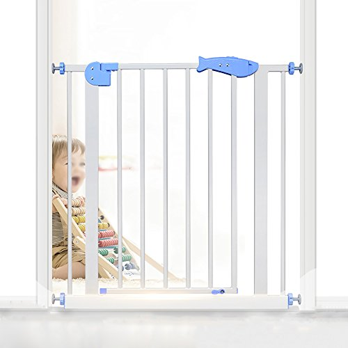 WSSF- Auto-Close Security Gate Zäune Free Punch Baby Treppengeländer Child Safety Gate Kleinkind Spielfläche Laufstall Pet Zaun Dog Gate Isolierung Tür Geländer ( größe : 126-133cm )