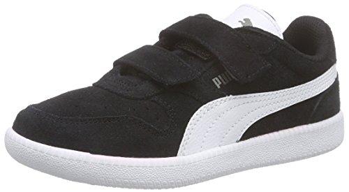 Puma Icra Trainer SD V Inf, Unisex-Kinder Sneakers, Schwarz (Black-White 07), 24 EU (7 Kinder - Schuhe Jungen Puma